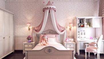 Girls bedroom designs and elegant girls' rooms with delicate décor