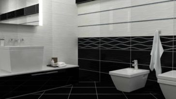 Black ceramic flooring pictures in royal black